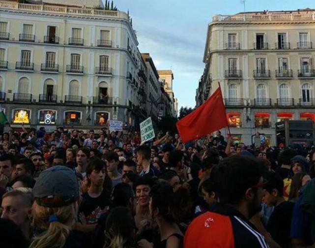 Акция солидарности с Каталонией в Мадриде