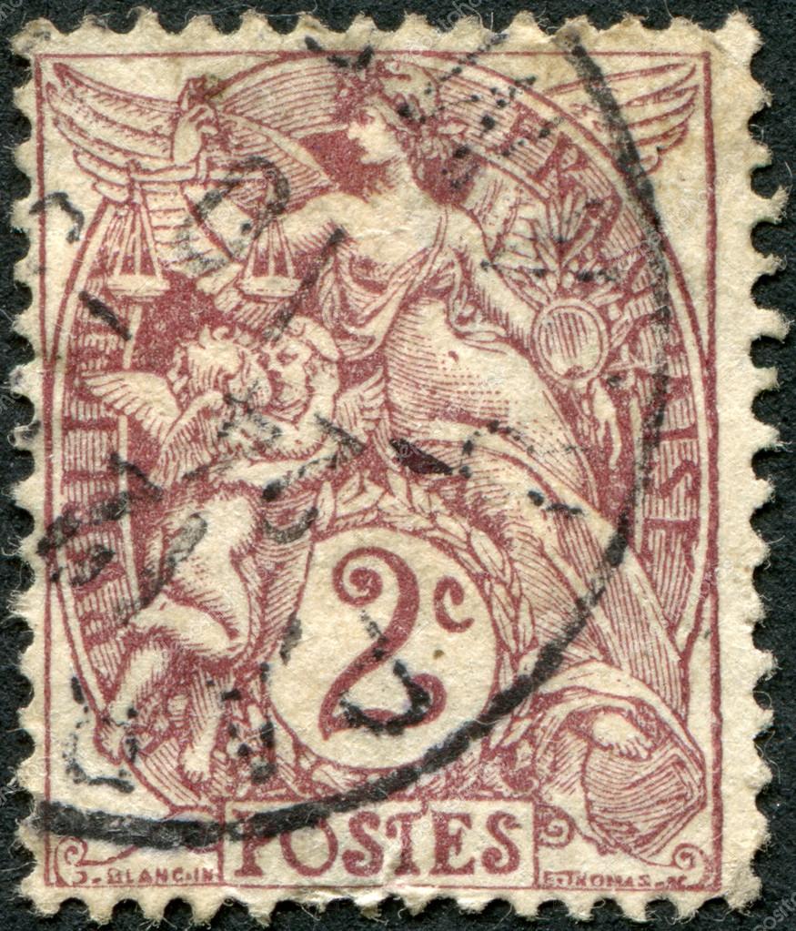 Аллегория свободы, равенства и братства. Франция, 1900 г.