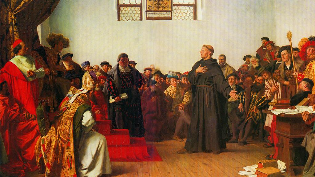 «Мартин Лютер на Вормсском соборе». Антон Вернер, 1877 г.