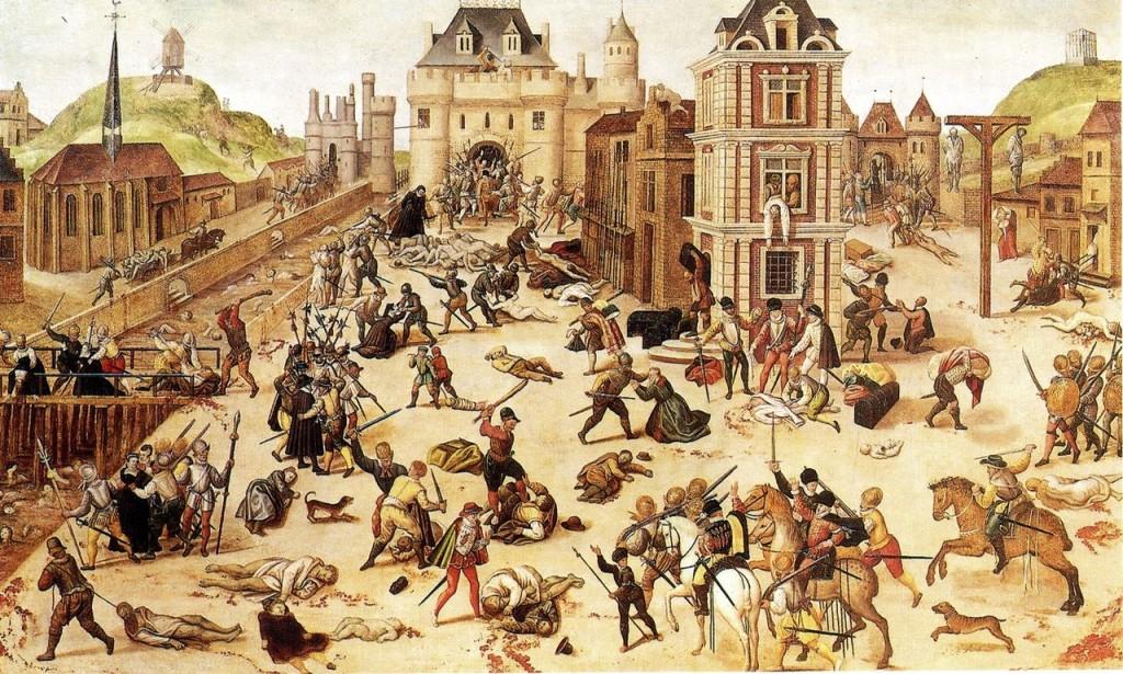 Варфоломеевская ночь. С картины художника Франсуа Дюбуа (1529—1584). Кантональный музей изящных искусств, Лозанна (Швейцария)