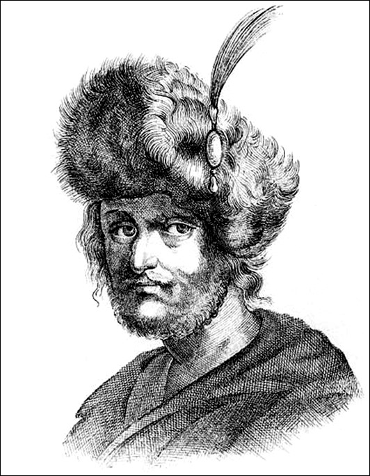 Портрет Лжедмитрия II. Гравюра. XVII века