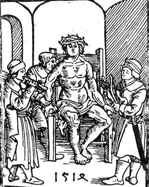 Дьёрдь Дожа на 'огненном троне'. Современная гравюра.