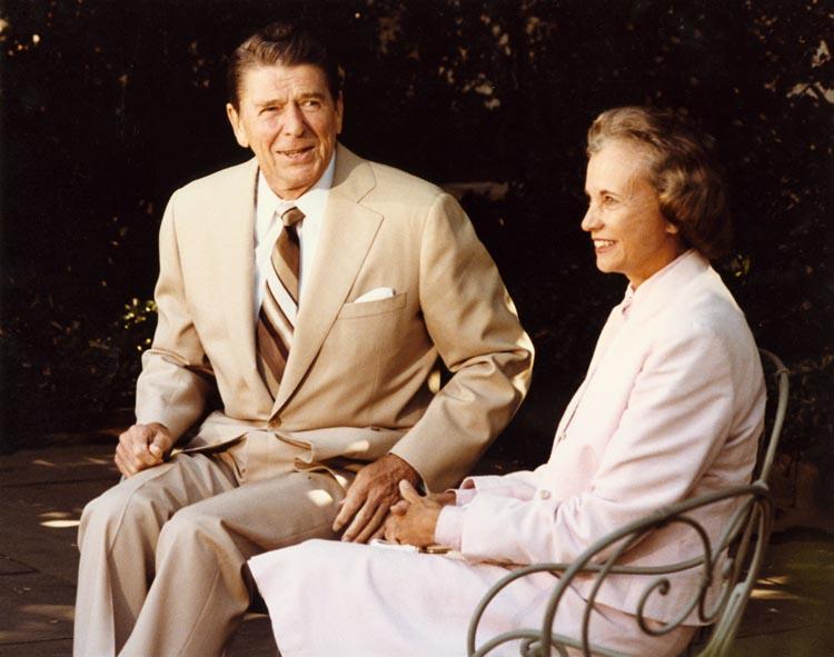 """""""Политический адюльтер"""": Сандра О'Коннор беседует с Рейганом перед назначением. 15.7.1981"""