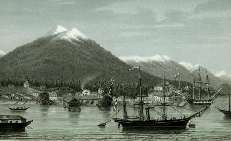 Новоархангельск (скорее всего начало 1830-х гг.). Здесь и далее иллюстрации см. masterok