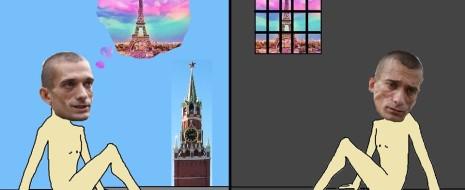 Про Павленского - это же реально антиутопия. Пока человек здесь двери поджигал, в родной сатрапии, было следующее: - он был на свободе - его жена была на свободе - их дети были в семье - про них все время писала пресса....