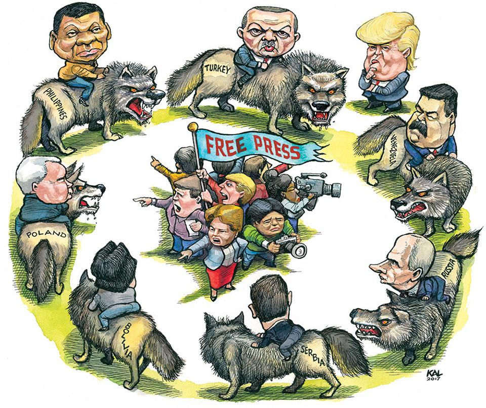"""Карикатура с сайта Freedom House - """"неправительственной организации"""" с руководством из б.чиновников США или """"активистов"""", бывших на финансировании этой страны. Ради свободы и демократии, конечно"""