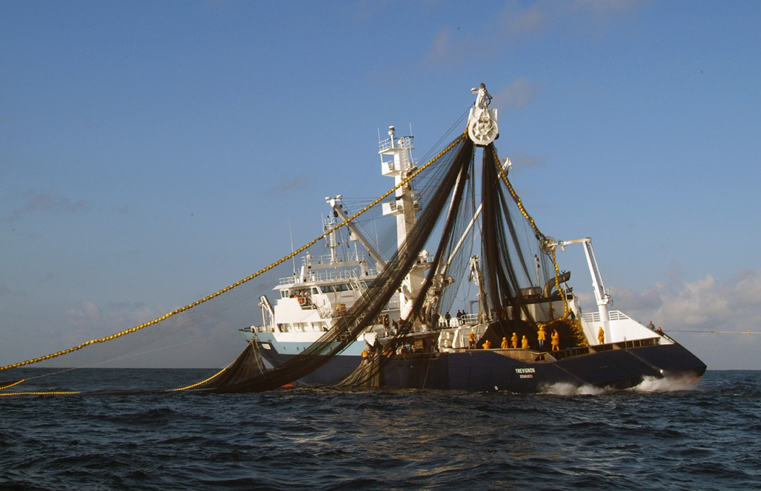 Французский тунцеловный сейнер Trevignon. В 2010 году отбил нападение сомалийских пиратов, протаранив и потопив их лодку. Фото: Marcel Mochet / AFP / East News.