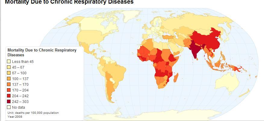 Особенно велика смертность от загрязнения воздуха в Дели и других мегаполисах стран Третьего мира.