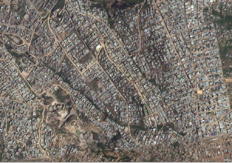 Окраина Боготы (Колумбия), в этой трущобе живут около 50 тыс. человек