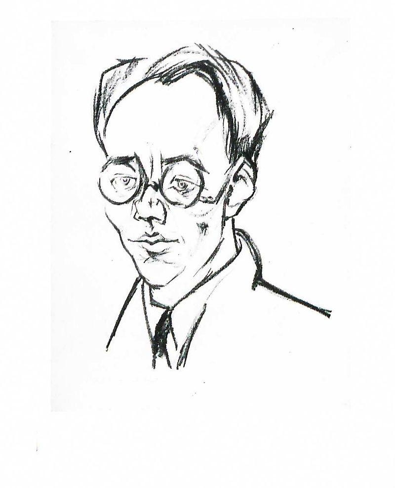 Карл Август Виттфогель в лучшие годы своей жизни, до ренегатства. Рис. Lajos Tihanyi (1926)