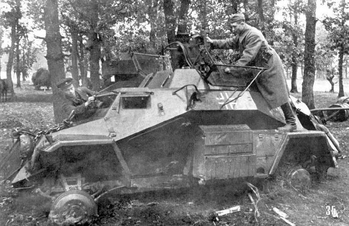 """Аналогичный случай с бронемашиной типа Sd.Kfz.222. """"Магнитолу снимай!"""" Северо-Западное направление, июль."""