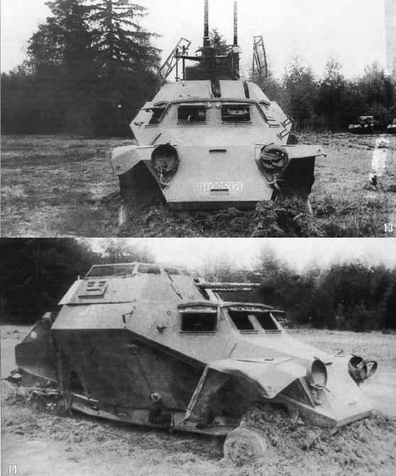 Западный фронт, июль. Советские танкисты подбили Sd.Kfz.222 и притащили на буксире в тыл к своим.