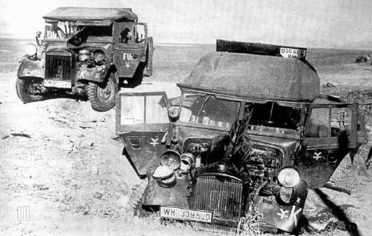 Южный фронт, сентябрь. Техника из немецкой 16-й танковой дивизии.
