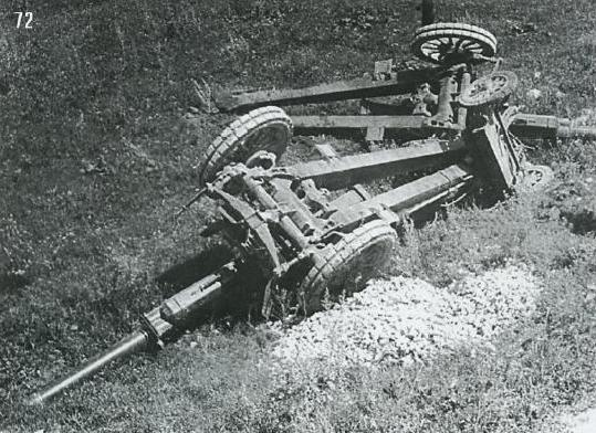 Результаты внезапного появления советских танков. Район Дубно, июнь.