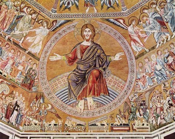 Христос Пантократор и Страшный суд. Италия, 1300 г.