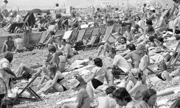 Пляж в Брайтоне, 1976 г.