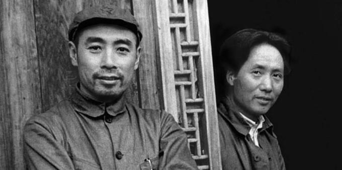 Чжоу Эньлай и Мао Цзэдун в 1935 году