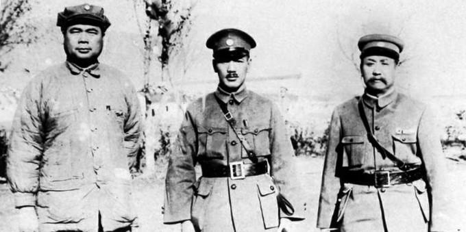 Фэн Юйсян, Чан Кайши и Янь Сишань в 1928 году