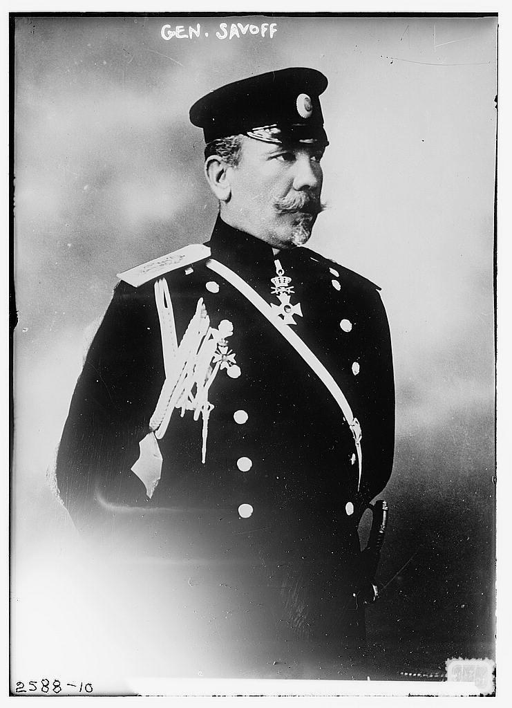 Генерал Михаил Попов Савов, зам.главнокомандующего болгарской армией