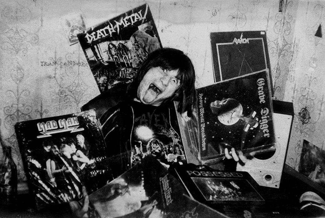 Виниломания хеви-металлической волны. Сергей Ганс Аэропортовский, 1987 год. Фото из архива Окуляра.