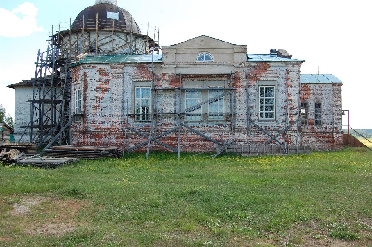 Церковь в селе Пожег Усть-Куломского района