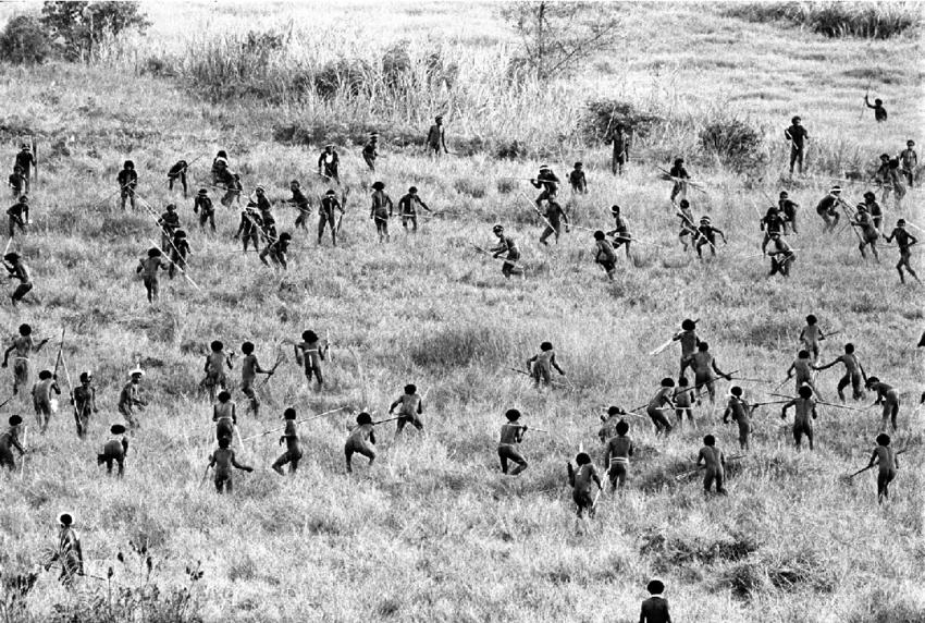 Сцена битвы у дани, из работы Карла Г. Хейдера
