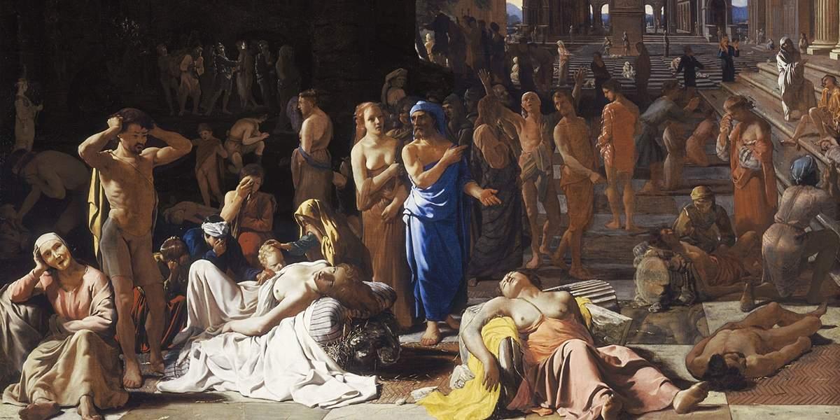 «Афинская чума», художник Михаэль Свертс