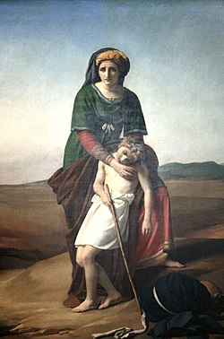 Агарь с Исмаилом в пустыне