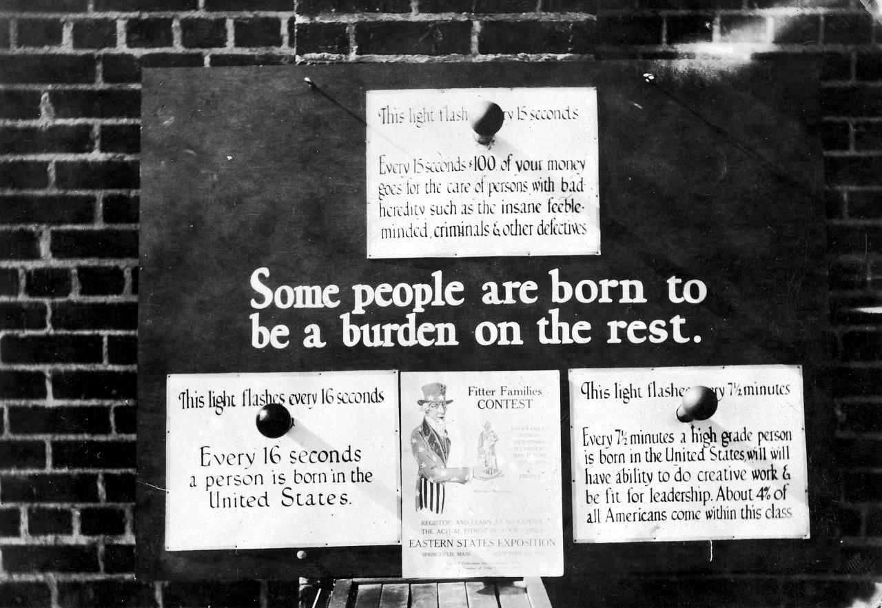"""Плакат """"Некоторые рождаются, чтобы быть обузой"""", 1926 г."""