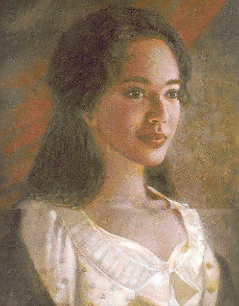 Образ Салли Хемингс из фильма (исторически недостоверен, но портретов не сохранилось)