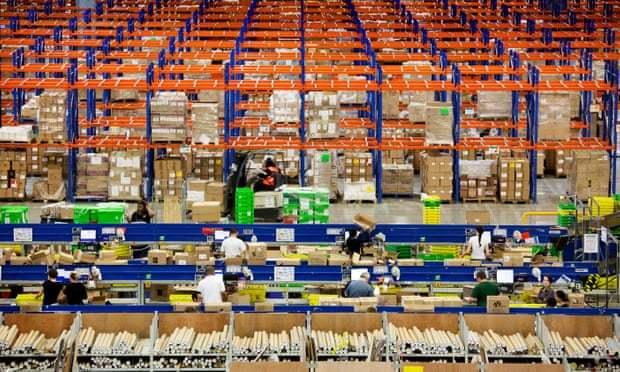 Склад компании Amazon в Милтон Кейнс, Великобритания