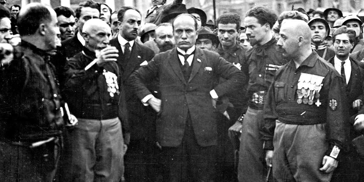 Муссолини во время «Похода на Рим», 1922 год