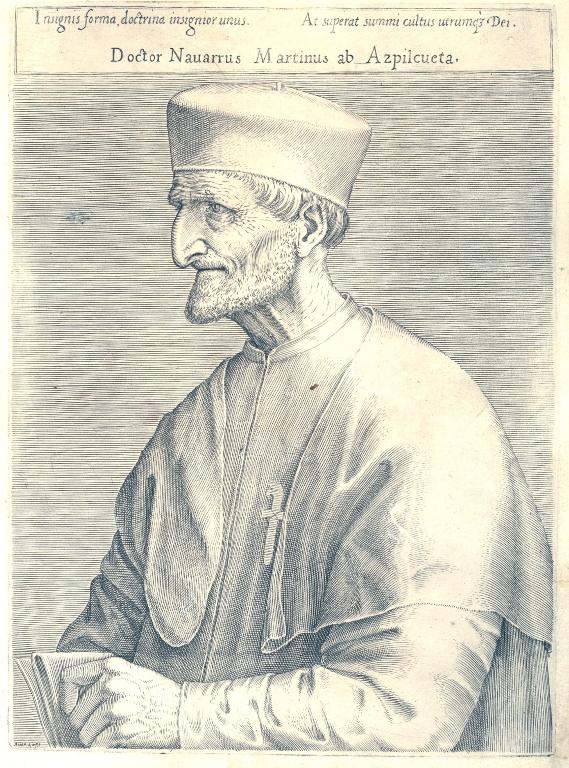 Martín de Azpilcueta, один из авторов Саламанкской школы, писавших о теории ценности, денег и цен