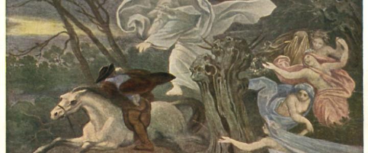 В балладе Гёте Erlkoenig («Ольховой король»), переведенной на русский язык как «Лесной царь», сюжет вращается вокруг столкновения ребенка со сверхъестественным существом, убеждающим его последовать за собой. Это существо – Ольховый король – описывает блаженную страну, которая ему подвластна, и блага, которые ждут в ней ребенка, но затем переходит к...