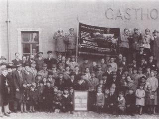 Вручение криворожского знамени горнякам в г.Гербштадт, 1929 г.
