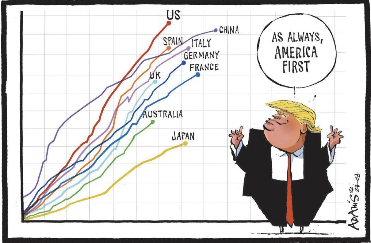 """""""Как всегда, Америка первая"""". Карикатура из Evening Standard"""