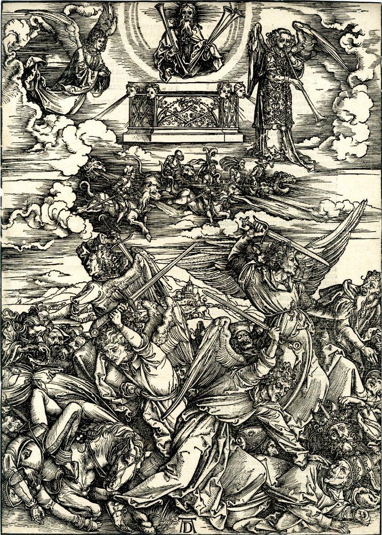 """4 ангела смерти из """"Апокалипсиса"""" Альбрехта Дюрера (серия гравюр)"""