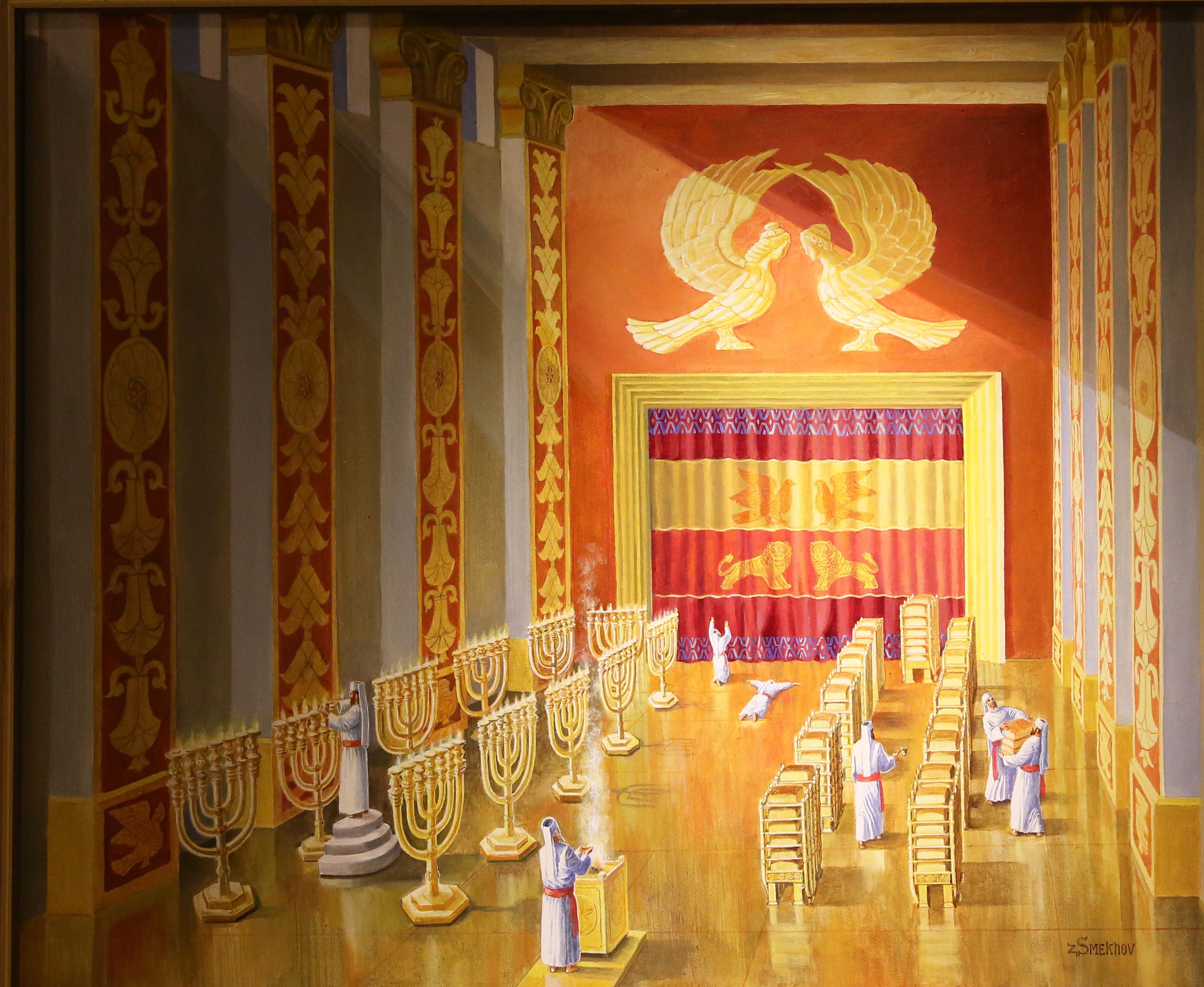 Завеса, отделяющая Святая Святых, реконструкция Института Храма