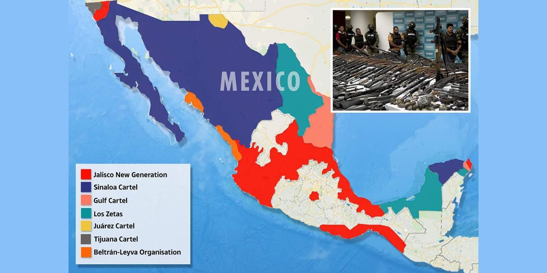 Мексика, поделенная картелями