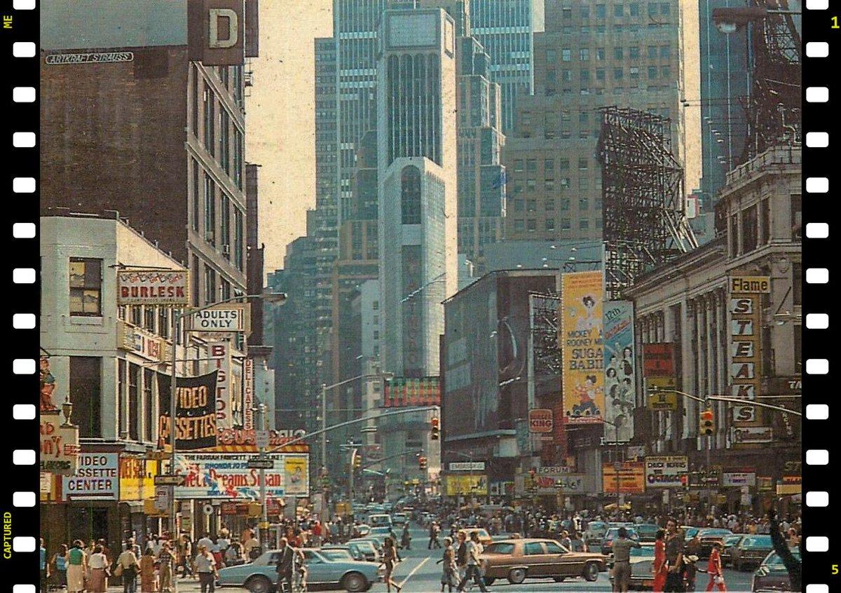 Таймс-сквер. Нью-Йорк, 1980 г.