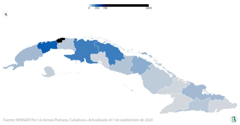 Гранма и Лас-Тунас - провинции Кубы с наименьшим количеством подтвержденных случаев COVID-19.