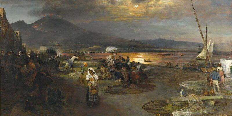 Неаполитанский берег на картине О. Ахенбаха