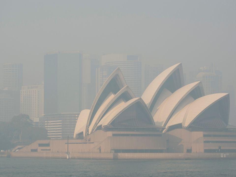 Смог от пожаров в буше накрыл сиднейскую гавань, ноябрь 2019. Фото: Emeran Gainville / Greenpeace