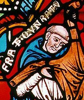 Конрад фон Марбург. Детали оконнного витража в Елизаветинской церкви