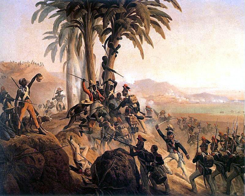 Януарий Суходольский. Битва на Санто-Доминго (Столкновение между польскими легионерами и гаитянскими повстанцами)