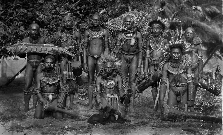 Marind-Anim_men_dressed_for_ceremony,_south_coast_Dutch_New_Guinea