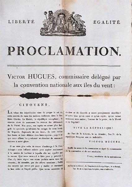 Эмансипационная прокламация Виктора Хьюго на Гваделупе