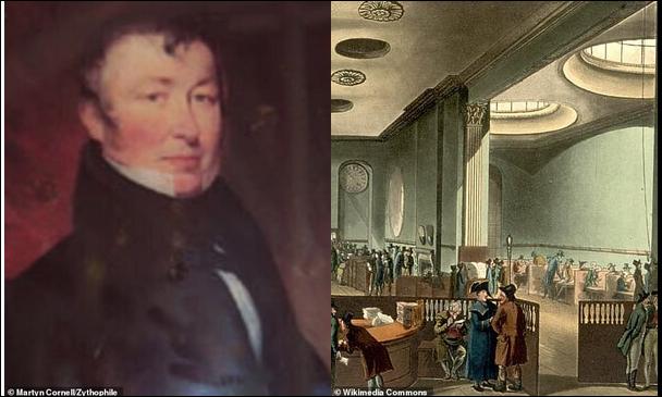 Основатель Greene King Бенджамин Грин (слева) получил выгоду от политики компенсации рабовладельцам, когда Британия отменила рабство в 1833 году. Член-основатель Lloyd's of London, Саймон Фрейзер, также выиграл. Комната подписки Ллойда (справа) изображена на гравюре в 1809 году Бенджамин Грин унаследовал плантации в Вест-Индии от сэра Патрика Блейка, второго баронета, после его смерти. В 1828 году он купил «Бери и Саффолк Геральд», когда обсуждалась кампания за отмену рабства. Будучи владельцем газеты, Грин использовал страницы этой газеты, чтобы жестоко выступить против отмены рабства. Согласно его биографии в Оксфорде, он с огромной энергией проводил кампанию по представлению интересов западно-индийских рабовладельцев в критический момент их дел».