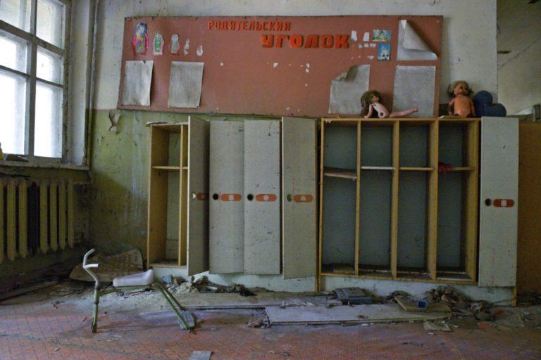 Туристы в зоне отчуждения Чернобыльской АЭС